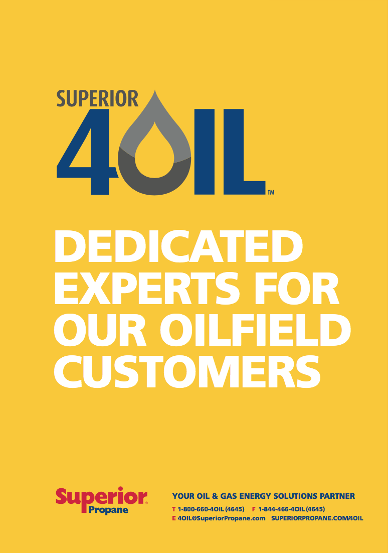 The cover of the Superior For Oil brochure