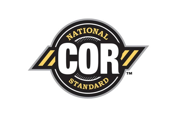 Logo for the National COR Standards. Superior Propane has received COR accreditation in key provinces across Canada.