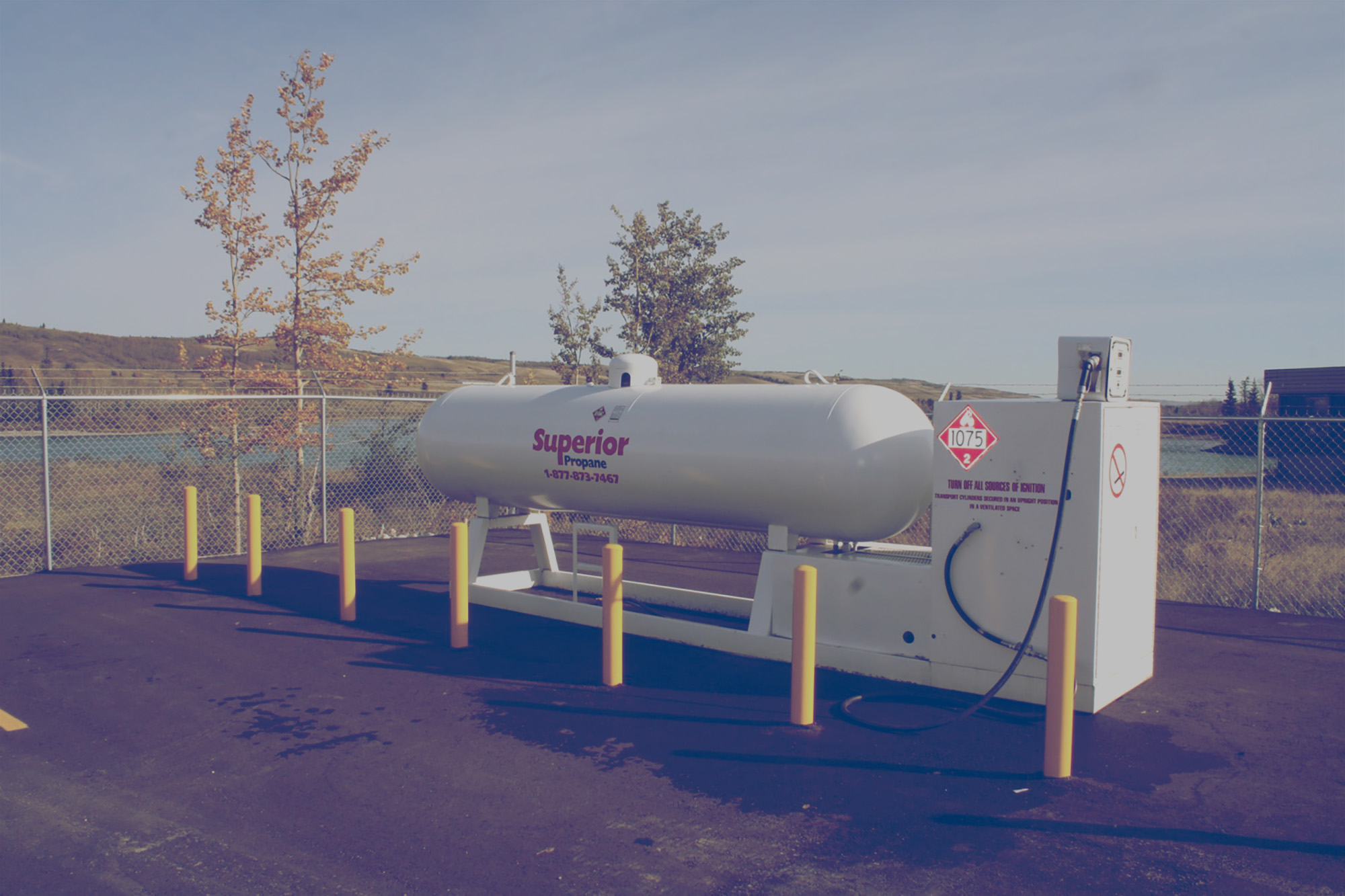 Superior propane autogas tank in a card lock station.
