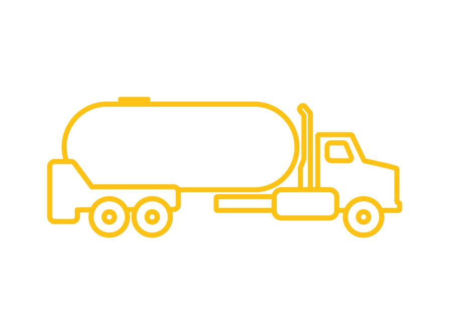 Propane Truck icon used to indicate automatic deliveries.